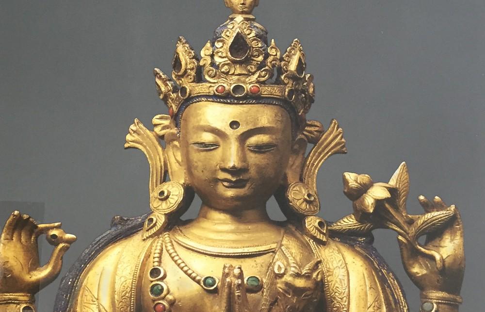 Imagen Buda Guanyin, tesoros de la compasió